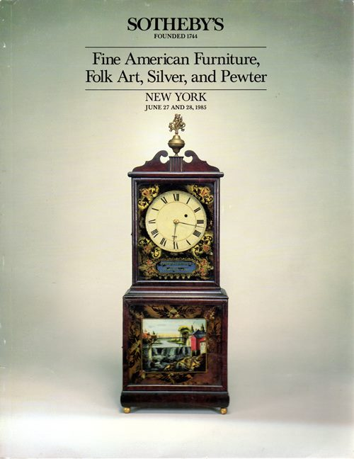Image for Fine American Furniture, Folk Art, Silver and Pewter, New York, June 27 and 28, 1985 (Sale 5357)