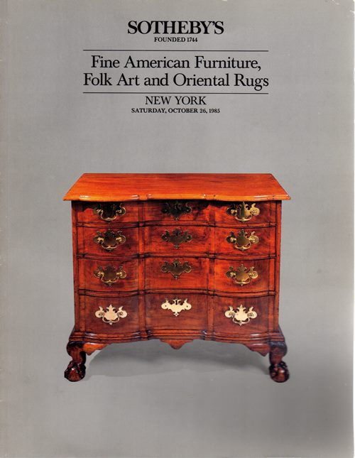 Image for Fine American Furniture, Folk Art and Oriental Rugs, New York, October 26, 1985 (Sale 5376)