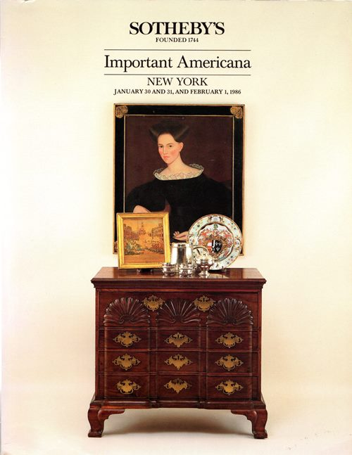 Image for Important Americana Including Furniture, Folk Art and Folk Paintings, Prints, Silver and Chinese Export Porcelain, New York, January 30 and 31 and February 1, 1986 (Sale 5429)