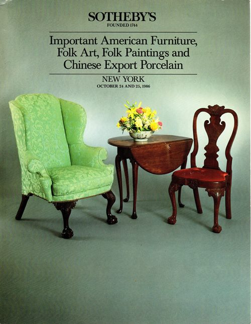 Image for Important American Furniture, Folk Art, Folk Paintings and Chinese Export Porcelain, New York, October 24 and 25, 1986 (Sale 5500)