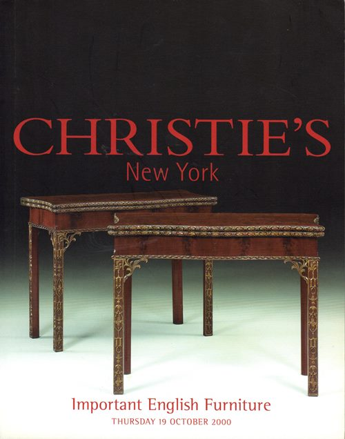 Image for Important English Furniture, New York, 19 October 2000 (Sale 9488)