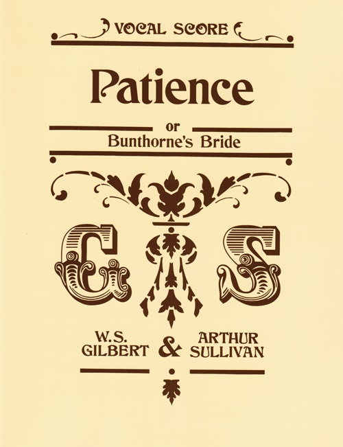 Image for Patience or Bunthorne's Bride